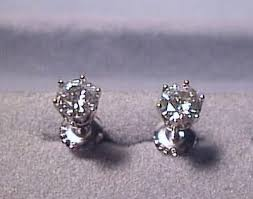 moissanite earrings moissanite earrings 2 carat 6 prong screwbacks 14k white