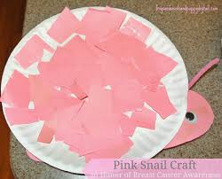pink snail craft in honor of breast cancer awareness fspdt