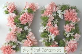 Floral Centerpieces Diy Monogram Floral Centerpiece