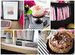 Pink And Black Candy Buffet by 23 Best Kate Spade Inspired Parties Black Pink Gold Images