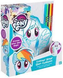 pony colour rainbow dash cushion kids girls