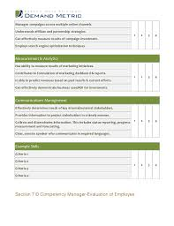 performance review template free download template examples