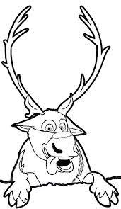 kristoff sven reindeer u0027s friend helps anna