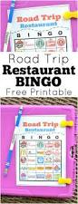 Free Printable Halloween Bingo Cards With Pictures Road Trip Restaurant Bingo Free Printable The Suburban Mom