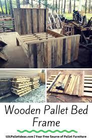 diy pallet bed frame design jpg