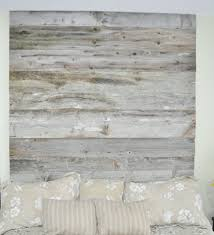 reclaimed wood headboard diy installation made from real barn