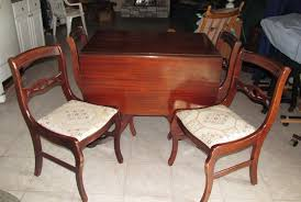 Antique Drop Leaf Kitchen Table by Vintage Double Drop Leaf Table And Chair Set Antique Appraisal