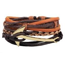 leather hand bracelet images Men 39 s leather bracelet multi layer adjustable casual men 39 s jpg