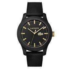 Lacoste Home Decor by Unisex L 12 12 Watch Black Gold By Lacoste Spring Free