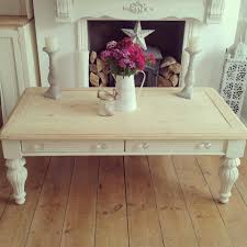 Shabby Chic Coffee Tables Classic Rectangle White Wood Table Wooden Top Table Ornate Curve