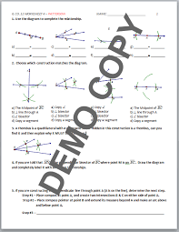 high geometry common core g co d 12 basic constructions