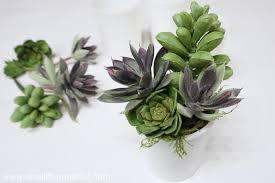 easy milk glass succulent planter 5 minute gift idea small