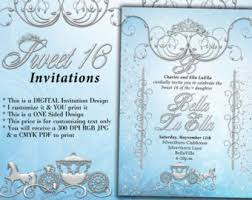 cinderella sweet 16 theme diamond and pearl invitation sweet 16 invitation