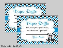 Panda Baby Shower Invitations - panda baby shower diaper raffle invitation inserts printable