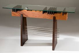Stainless Steel Sofa Table Buy A Hand Made Modern Glass Top Hall Table Sofa Table In Wood