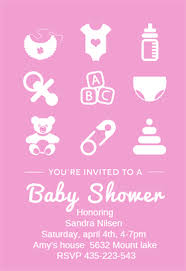 pink baby shower baby shower invitations templates the grid system