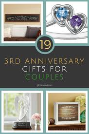 3rd anniversary gift ideas for 19 great 3rd wedding anniversary gift ideas for couples