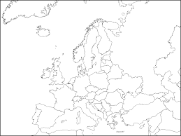 blank political map of europe