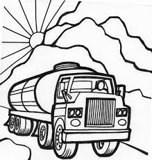 tanker truck coloring page fast car coloring page monster truck