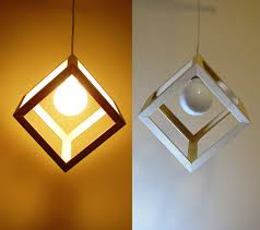 Hanging Industrial Lights by Wooden Cube Pendant Light Hanging Cube Lamp Swag Light Modern