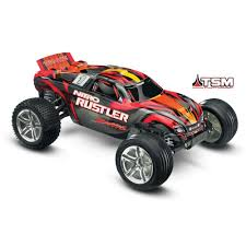 rc monster truck nitro traxxas nitro rustler 1 10 2wd with tsm tra44096 3 car u0026 truck
