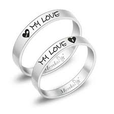 promise ring sets best his and rings engraved products on wanelo
