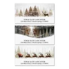 winter banners deluxe address labels colorful images