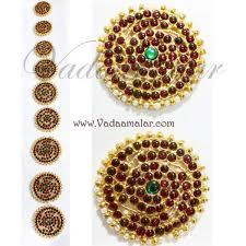 bharatanatyam hair accessories 9 pieces billai braid kemp stones hair temple jewelry