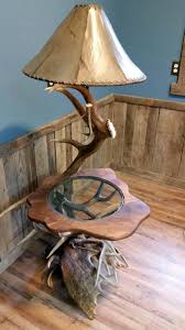 Antler Table Lamp Handcrafted Antler Tables Alaska Yukon Moose