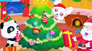 baby panda merry christmas party on christmas eve food