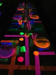 glow in the decorations 15 awesome glow in the birthday party ideas spaceships and