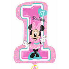 minnie mouse 1st birthday 28 disney baby minnie mouse 1st birthday party foil number