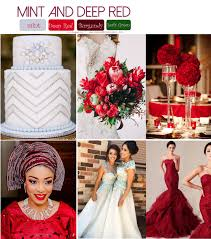 Mint Green Wedding Mint Deep Red And Green Wedding Colors U2013 My Wedding Nigeria
