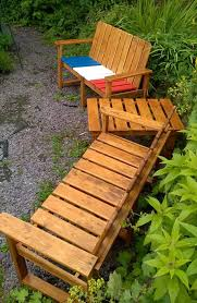 Diy Pallet Patio Furniture - pallet outdoor furniture set and custom chest