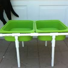 diy sand and water table pvc diy sand and water table with lids pvc pipe frame roughly 50 to