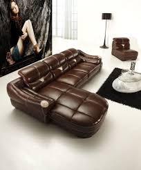 Wohnzimmerm El Couch Sofa De Canto Em Couro Moderno Marron Jpg 899 1083 Sofas