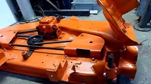 kubota t1600 hst 44 deck rebuild 4 youtube