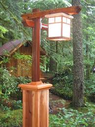 Outdoor Light Post Fixtures by Craftsman Lamp Post With Copper Light Yard Ideas Pinterest