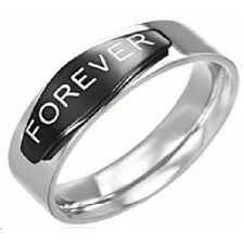 promise ring for men men s stainless steel forever promise ring with black enamel 8mm