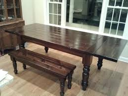 country kitchen table with bench extendable table with matching bench using osborne table legs
