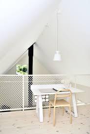 loft house design swedish loft house with concrete fireplace feature
