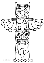 coloring pages lovely totem pole coloring pages free totem pole