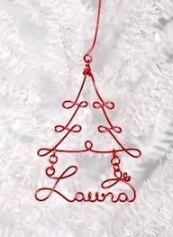 handmade wire tree ornament i want one in silver with