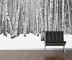 birch tree wrapping paper birch tree wallpaper repositionable peel stick wall paper