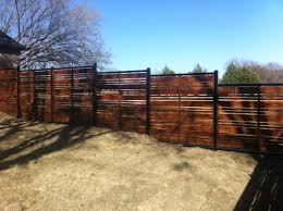pre sealed horizontal cedar fence on ornamental frame installed