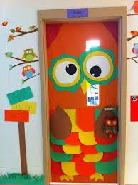 fall is a hoot owl classroom door decoration