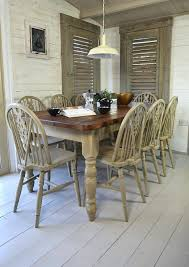 distressed white pedestal dining table furniture sets oak chairs