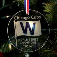 Glass Christmas Tree Ornament - chicago cubs world champions w ornament glass house store