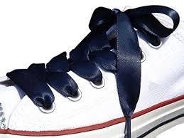 ribbon shoelaces high fashion navy satin ribbon shoe laces shoe