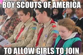 Boy Scout Memes - boy scouts to allow girls to join memenews